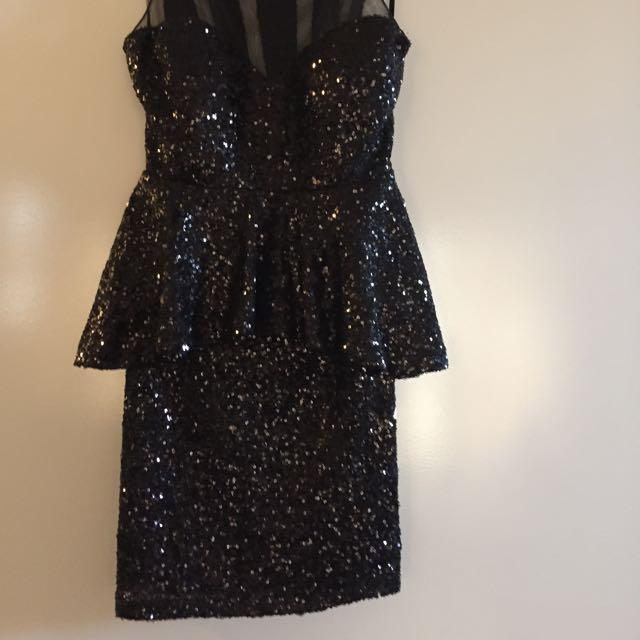 Black Sparkly Cocktail Dress