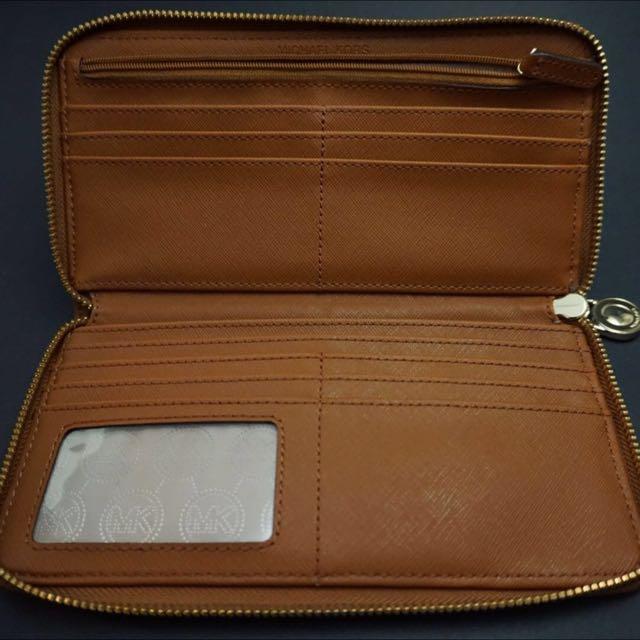 Blue And Brown Michael Kors Jet Set Wallet