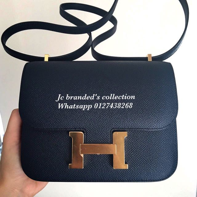 5d402111a3ec ... coupon bn.hermes constance 18 blue indigo epsom ghw stamp x luxury bags  wallets on