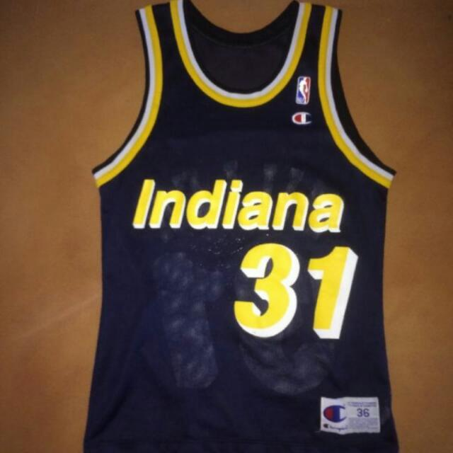 newest 80100 c094e Champion Pacers Reggie Miller Jersey Sz 36