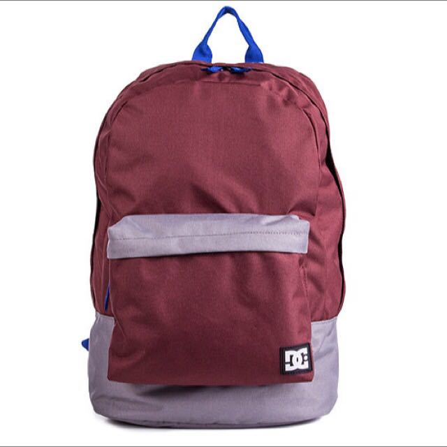 DC Maroon And Blue Backpack