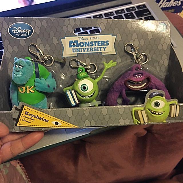 DISNEY STORE Monsters University Keychain Set