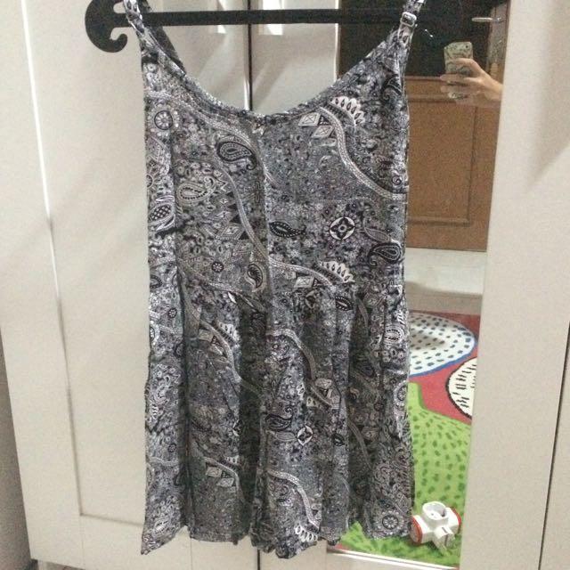 Dress Pendek Motif Batik bali