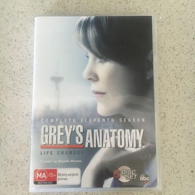 Grey\'s Anatomy Season 8, 9 & 11 DVDs Box Sets, Electronics, TVs ...