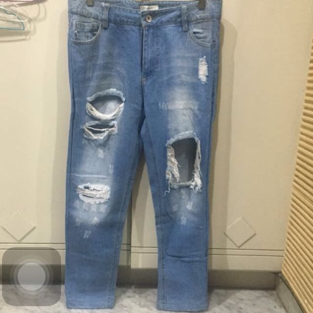 (new)Blue Rippen Jeans