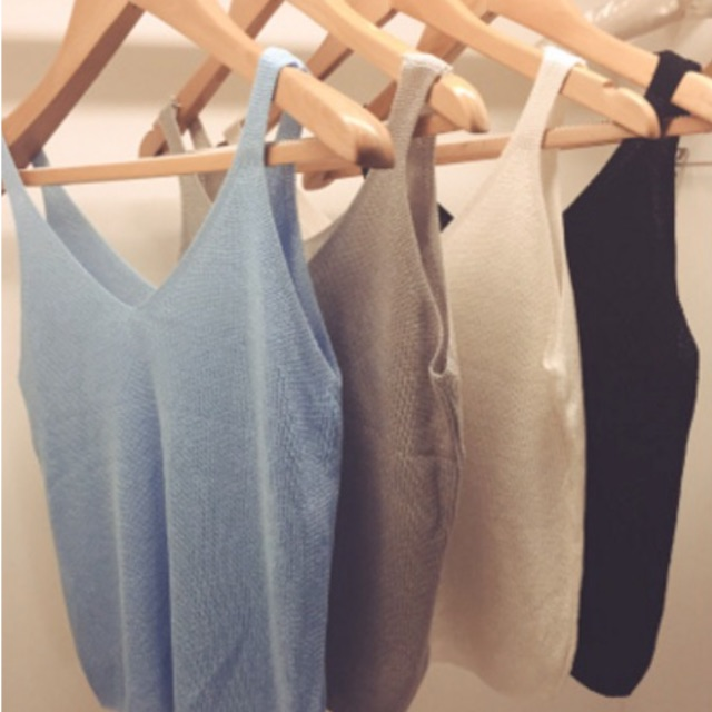 Knit Top ( Black and Blue)