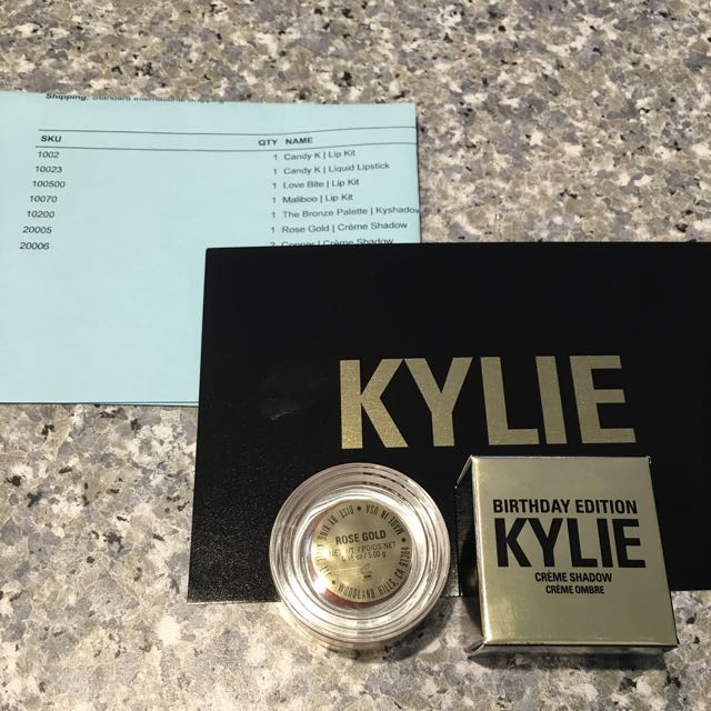 KYLIE Birthday Edition Crème Shadow **ROSE GOLD**