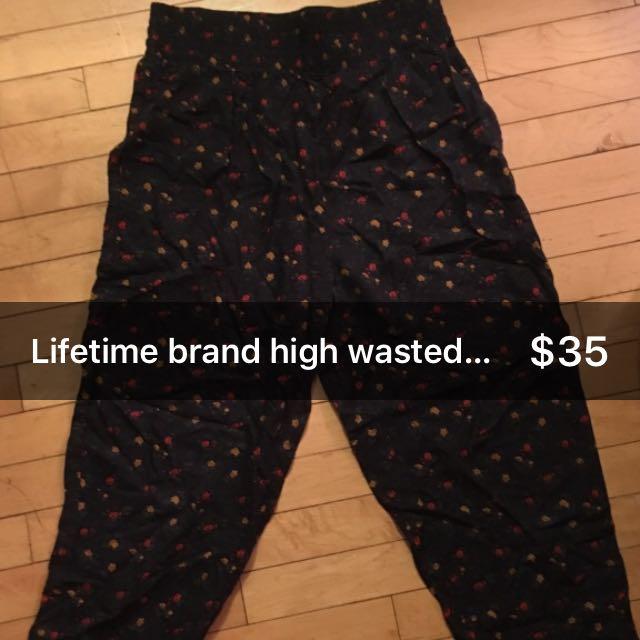 Lifetime Brand High Wasted Harem Pants