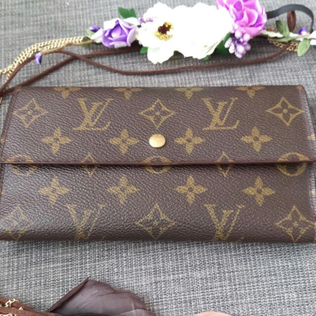 Authentic Louise Vuitton Trifold Wallet