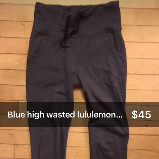 Lululemon High Wasted Skinny Leg Blue Pants Size 4