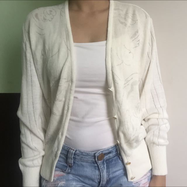 Off-whiteKnit Cardi