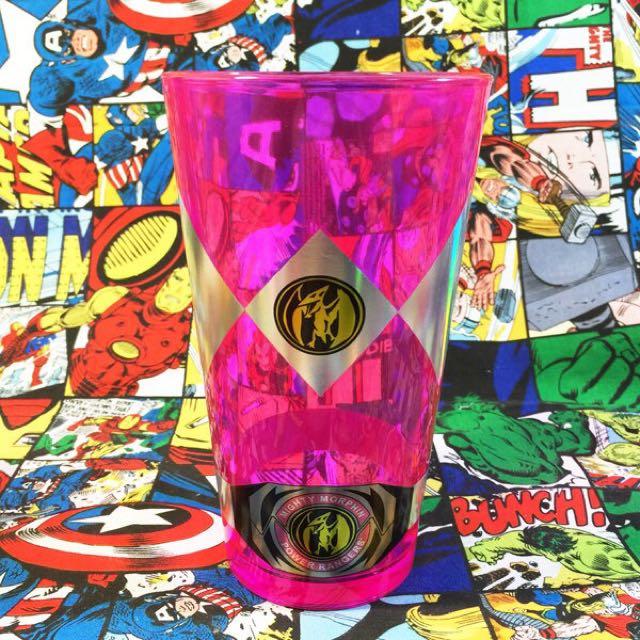 Power Rangers 金剛戰士 金鋼戰士 粉紅戰士 翼龍 玻璃杯 杯子