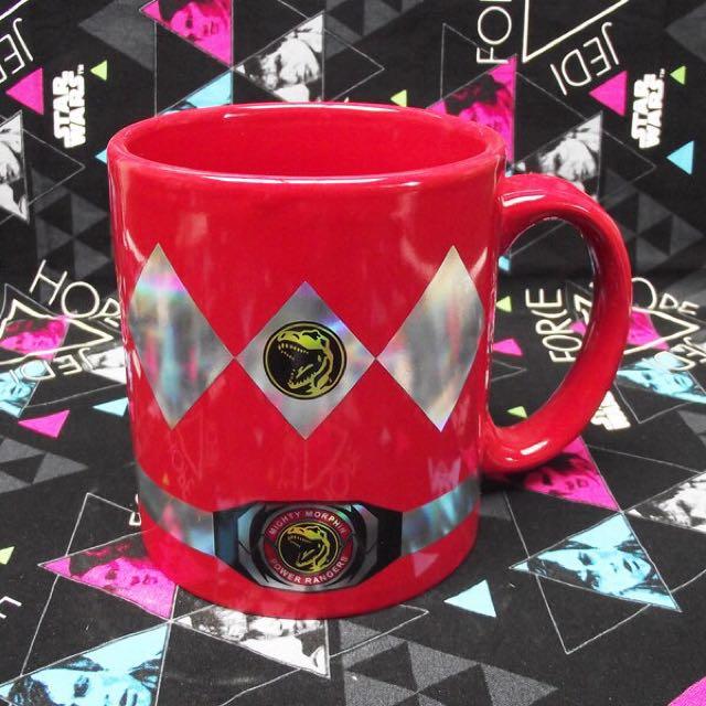 Power Rangers 金剛戰士 金鋼戰士 紅衣戰士 暴龍 隊長 馬克杯 杯子