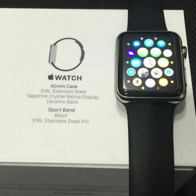 PRELOVED Apple Watch Stainless Steel Silver  42mm