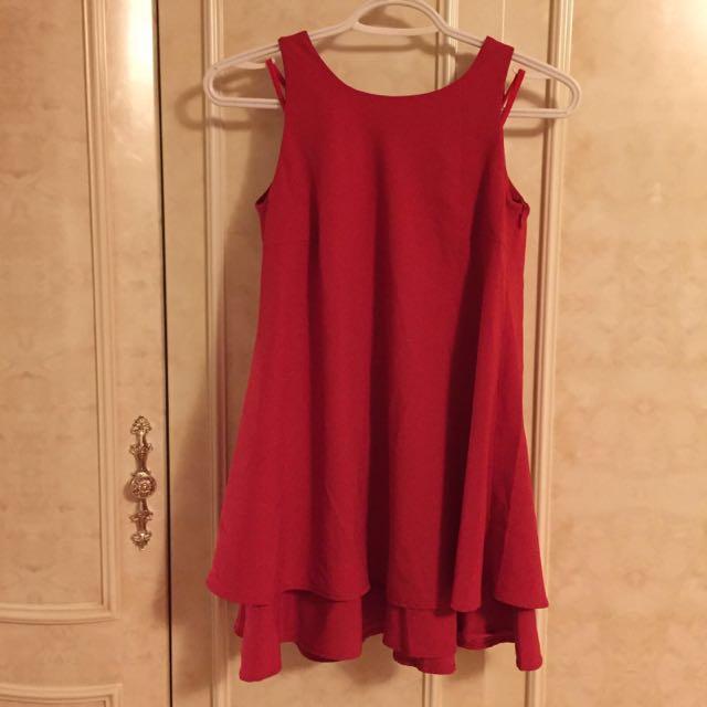 Red Tank Top Dress