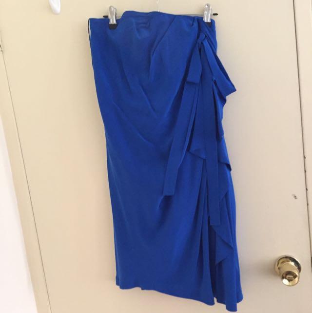 Robert Rodriguez Blue Silk Dress