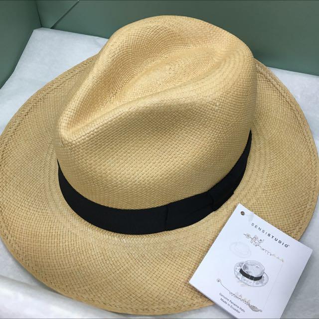 SENSI STUDIO Classic 巴拿馬草帽M(黑緞帶)