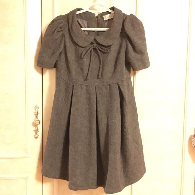 Short Bubble Sleeve Dress