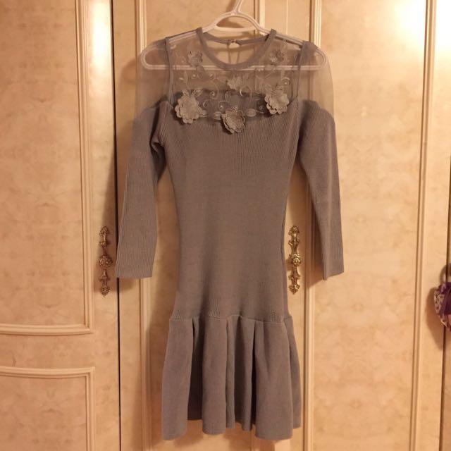 Snidel Long Sleeves, Sweater Dress