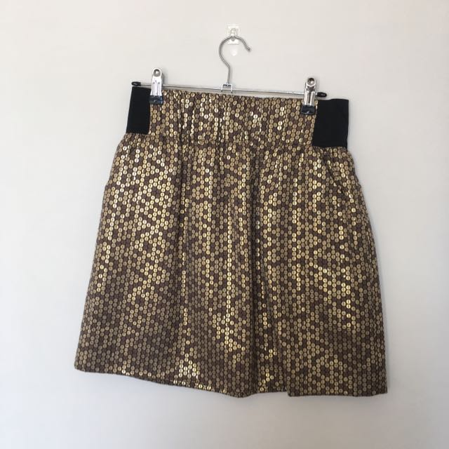 Sparkling High Waisted Skirt