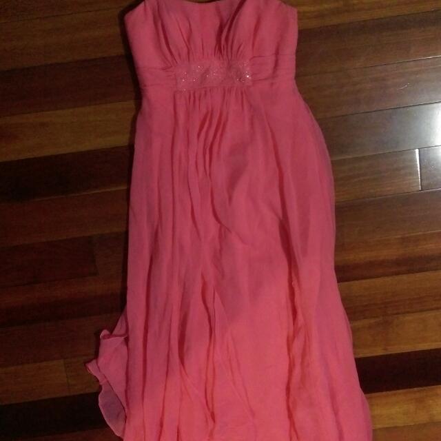 Strapless Peach Formal dress