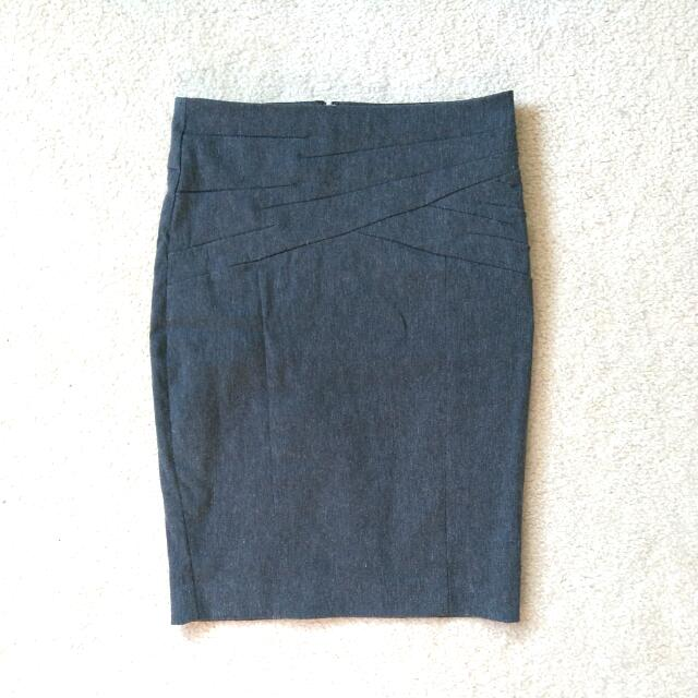 SZ 0 Dynamite Grey Pencil Skirt