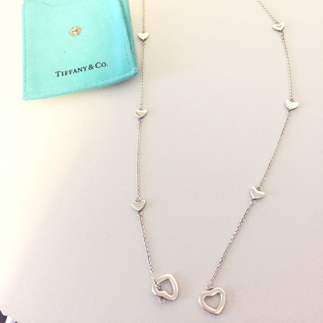 Tiffany Open Heart Sterling Silver Necklace