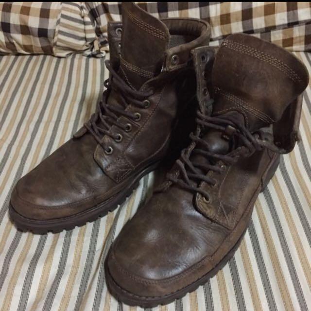 timberland 皮製高筒鞋
