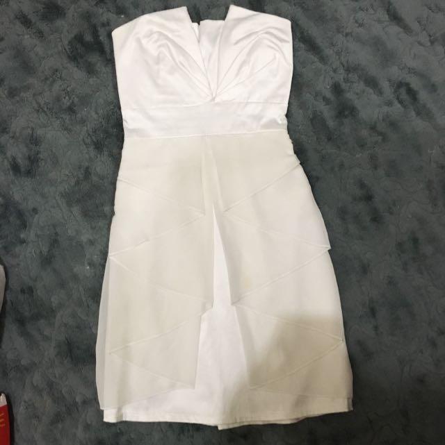 White Dress Kemben
