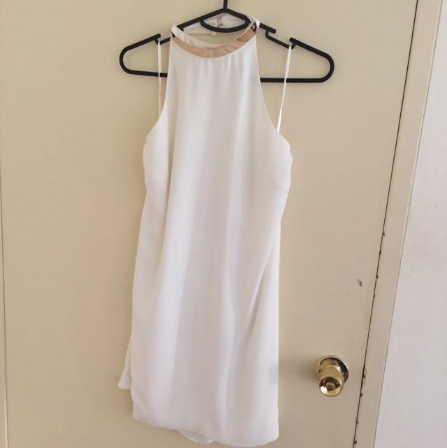 White Keepsake dress with metal detail