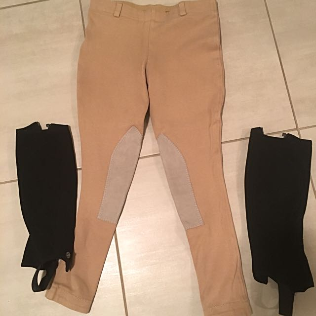 Winter Riding Breeches And Half Chaps, Age 10