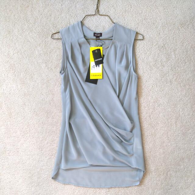 XS/S Danier Grey Sleeveless Blouse