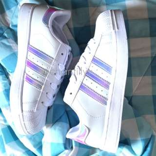 INSTOCK Holographic Adidas Superstar Shoe