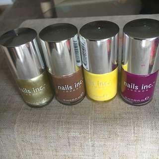 4 Nails Inc Polishes