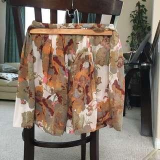 H&M Earth-toned High Waisted Skirt