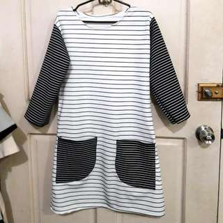 Black And White Striped Dress From HTP