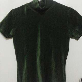 Green To Black Blouse