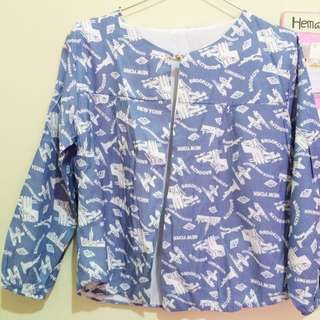 Outer Motif Warna Baby Blue