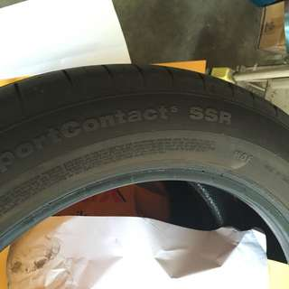 Used Contisportcontact  5 SSR Run Flat Tyres