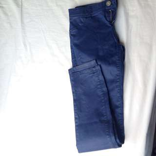 Stravdivarius Navy Blue Pant