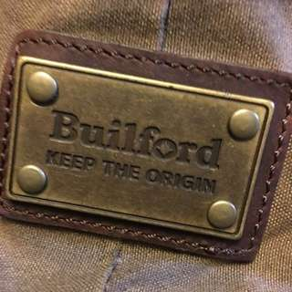 BUILFORD distressed canvas & leather mens Tote
