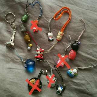 Set Of Cute Keyrings (9)