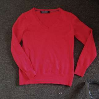 Sz6 Sportscraft red Merino Sweater