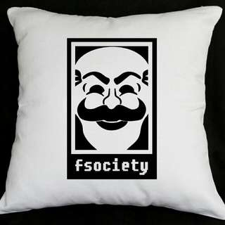 Mr. Robot FSociety Throw Pillow