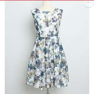 Wisteria Floral Dress
