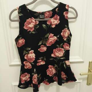 Pretty Rose Peplum Top