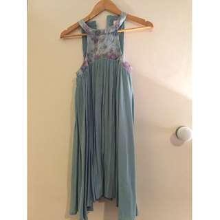 Angel Biba Mint Green Baby Doll Dress Size 6