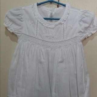 Periwinkle White Dress