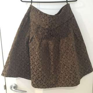 Gorgeous Chocolate Brown A-line Skirt (M)