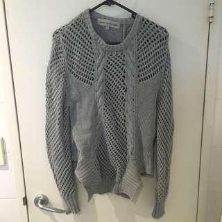 Grey Sweater With Funky Hem (M AU10)